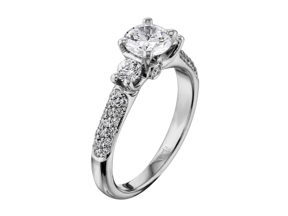 Crown Setting, Diamond, Diamond Engagement Ring, Engagement, Engagement  Rings, Pave Engagement