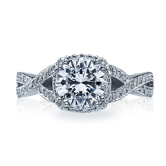 Tacori Engagement Ring 2627 RD top view