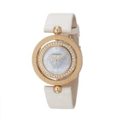 Versace Women's Eon Two Rings 40-Diamond Satin MOP Diamond Watch 79Q81SD497 S002