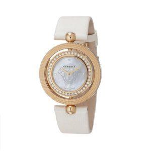 Versace Women's Eon Two Rings 40-Diamond Satin MOP Diamond Watch 79Q81SD497 S002