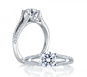 A.Jaffe Engagement Ring #MES334/126