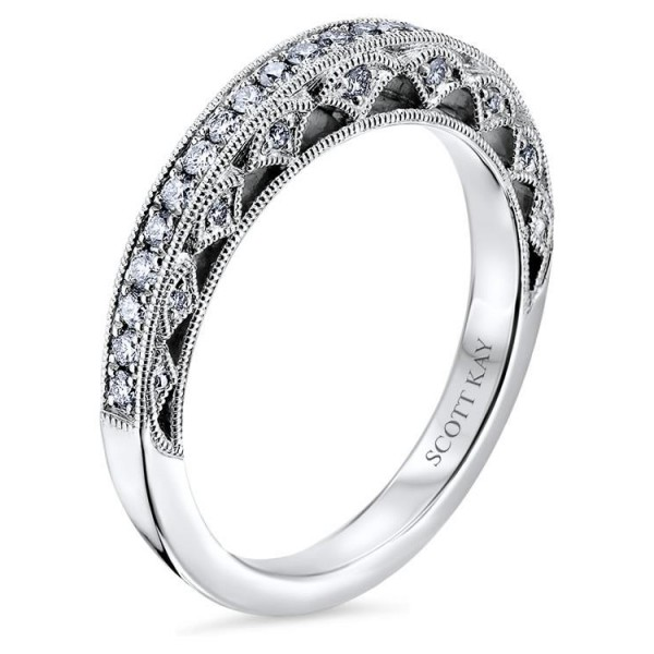 Scott Kay Heaven's Gate Wedding Band #B1820R710MM