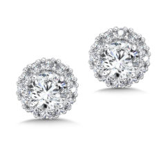 Caro74 Halo Stud Earrings #CFE413W