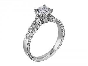 Scott Kay Vintage Engagement Ring #M1113RD10