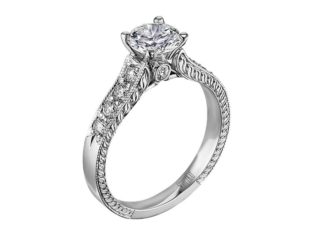 scott kay vintage engagement ring m1113rd10 - Scott Kay Wedding Rings