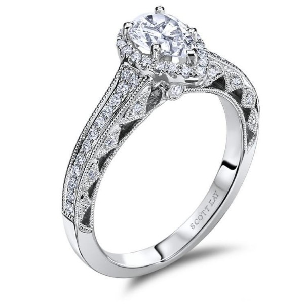 Scott Kay Heaven's Gates Engagement Ring #M1831R510WW