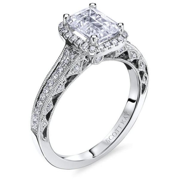 Scott Kay Heaven's Gates Engagement Ring #M1834R515WW