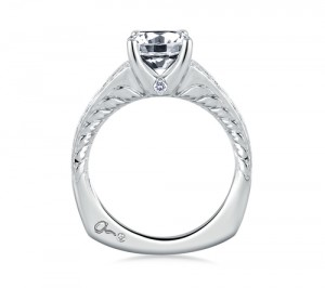 A.Jaffe Engagement Ring #MES452/196