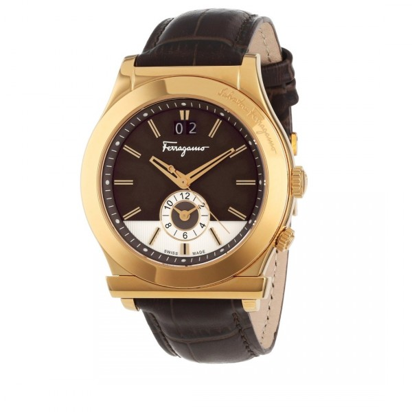 Salvatore Ferragamo Men's 1898 Gold Ion-Plated Watch Style F62LDT5095 S497