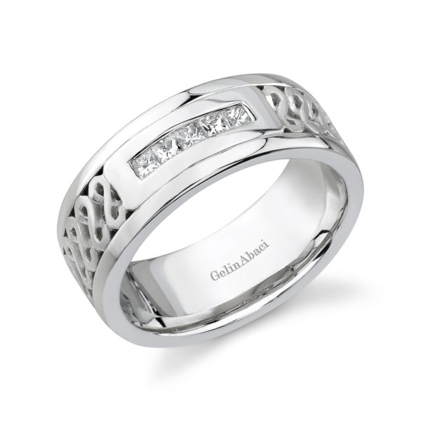 Gelin Abaci Amore Men's Wedding Band #B-203