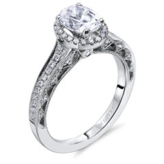 Scott Kay Heaven's Gates Engagement Ring #M1833R515WW