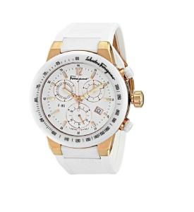 Ferragamo Gold IP Ceramic Chronograph Unisex Watch Style F55LCQ75101 S121 F-80