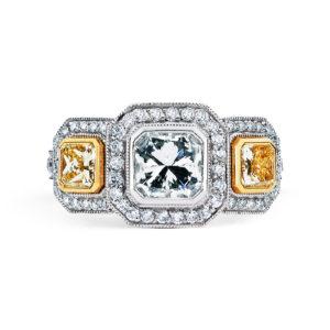 Garvani Three Stone Engagement Ring Style #33554