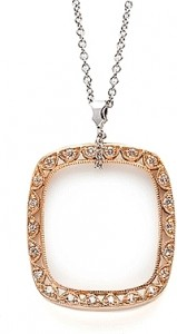 "Tacori ""Crescent"" Diamond Rectangular Pendant #FP510PK"