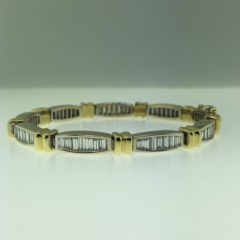 Baguette Cut Diamond Tennis Bracelet #16041