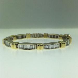 Baguette Cut Diamond Tennis Bracelet #16041