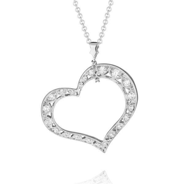 "Tacori ""Crescent"" Diamond Heart Pendant #FP501"