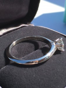 Tiffany & Co. Diamond Engagement Ring Consignment #102