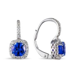 Lūvente Diamond & Tanzanite Drop Earrings Style#E02844-TZ.W