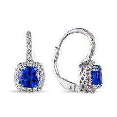 Lūvente Diamond & Tanzanite Drop Earrings Style#E02844-TZ.W